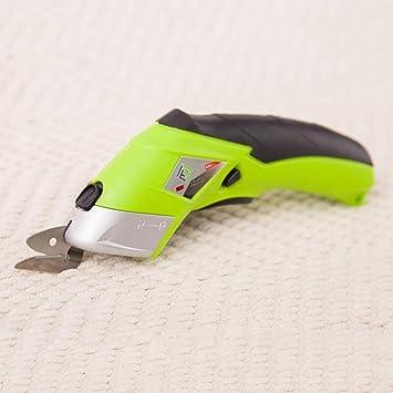 Tijeras eléctricas inalámbricas XD7 - Tijeras eléctricas para manualidades de tela eléctrica, cortador automático, 2 cuchillas cortadoras eléctricas para tela, papel, cartón
