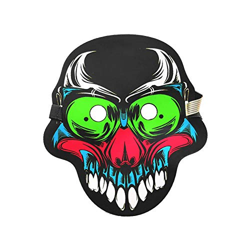 HEART SPEAKER Halloween Reactive LED Clown Mask Costume Sound Dance Rave Party Concert Cosplay 11#]()