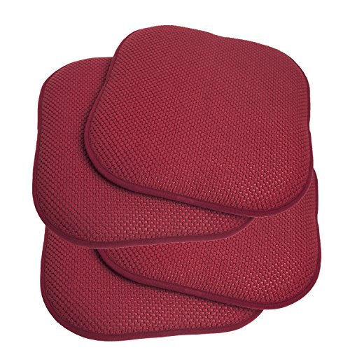 4 Pack Memory Foam Honeycomb Nonslip Back 16 X16 Chair Seat Cushion Pad