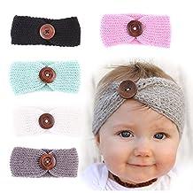 Womdee(TM) 5PCS Baby Knitting Toddler Headbands Head Wrap Crochet Hair Band