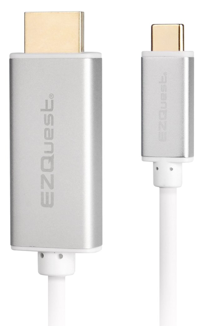 EZQuest USB-C to HDMI 4K 60Hz Cable 2 Meters, White (X40095)