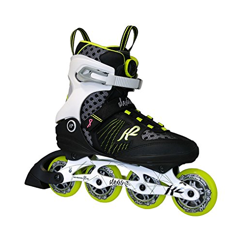 K2Alexis 84Speed Boa W 1Inline Skates, Black/White/Lime 1 Black-White-Lime