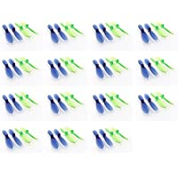 15 x Quantity of Estes Dart Transparent Clear Blue and Green Propeller Blades Props Rotor Set 55mm Factory Units