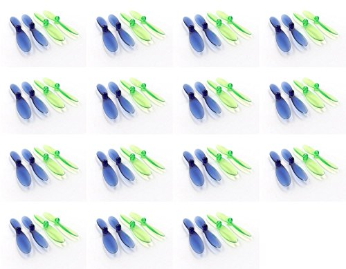 15-x-Quantity-of-Revell-QG-550-Mini-Quadrocopter-Transparent-Clear-Blue-and-Green-Propeller-Blades-Props-Rotor-Set-55mm-Factory-Units
