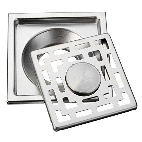 DD&DEE @ 10x10cm Stainless Steel Floor Drain Bathroom, Kitchen, Shower Drain Strainer (Bon Oval Basket)