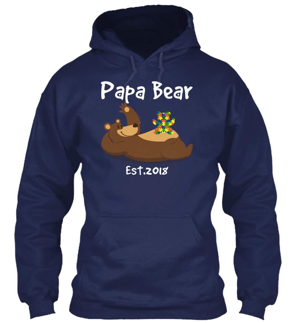 Papa Bear Est 2018 Autistic 8oz Heavy Blend 3904 Shirts
