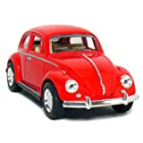 """5"""" Classic 1967 Volkswagen Beetle 1:32 Scale (Red) by Kinsmart"""
