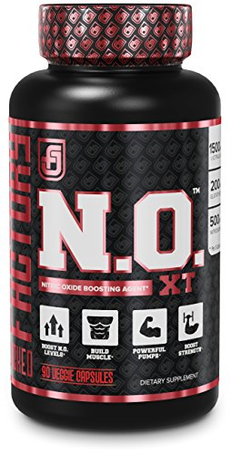N.O. XT Nitric Oxide Supplement With Nitrosigine L Arginine & L Citrulline for Muscle Growth, Pumps, Vascularity, & Energy – Extra Strength Pre Workout N.O. Booster & Muscle Builder – 90 Veggie Pills