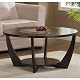 Cheap Archer Espresso Coffee Table with Shelf