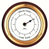 Fischer Instruments 1434TD-22 6 1/2'' Mahogany Wood and Brass Tide Clock