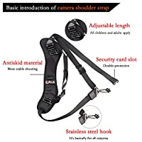 QBINGO Single Lens Reflex Camera strap,camera types: Nikon | Canon | Olympus | Extra Long Adjustable Shoulder |Camera Sling (Shoulder Strap) for Cameras DSLR SLR DV from Qbingo