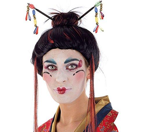 Limit Sport Peluca de Geisha con Palillos: Amazon.es: Juguetes y juegos