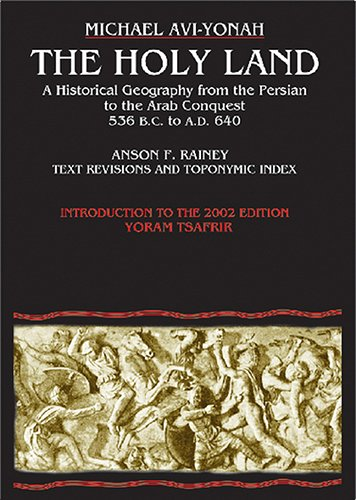 The Holy Land A Historical Geography Book By Michael Avi