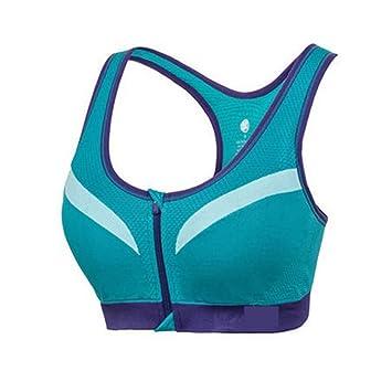 LaoZan Sujetador Deportivo De Alto Impacto para Mujer Sujetador Yoga Running Sin Aros Sujetador con Cremallera