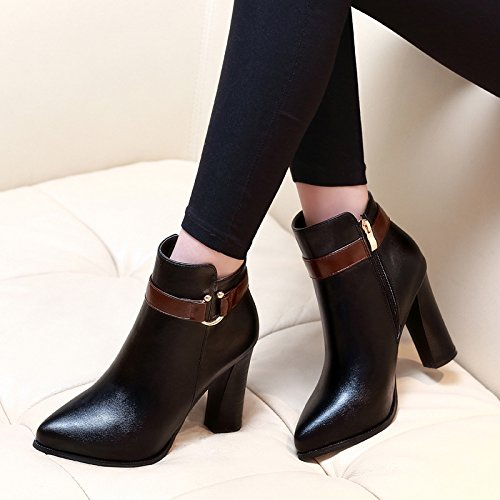 Chelsea And Thick Martin The Ankle The Boots Autumn Spell Boots And Heel Color With High Winter Shoes Boots Tip Black Cotton HGTYU zZStCWqZ