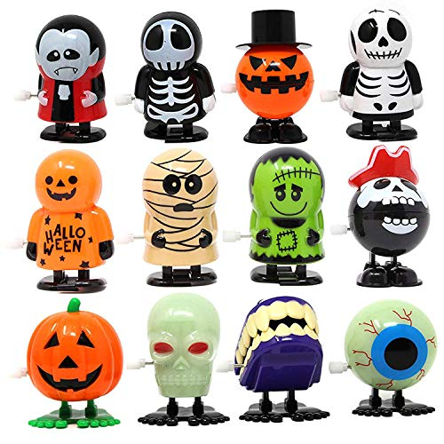 Cool Halloween Treat Bag Ideas (JOYIN 12 Pack Halloween Wind Up Toy Assortments for Halloween Party Favor Goody Bag Filler (12 Pieces)