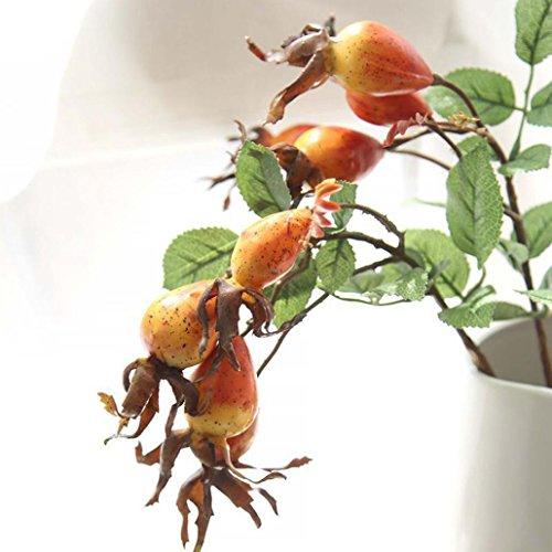 - YJYdada Fake Artificial Rose Fruit Pomegranate Berries Bouquet Floral Garden Home Decor (Orange)