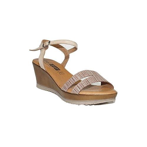 Piel Rosario Con Cuña Mujer Confort Moda Sandalias 2617 Cómodas 2018 Digo Sandalia Casual hsCtQrd