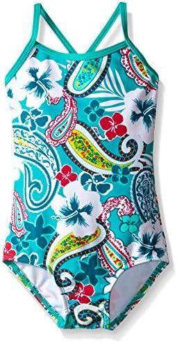 7 Bridget Pink//Navy Stripe Kanu Surf Girls Big Candy Beach Sport 2-Piece Tankini Swimsuit