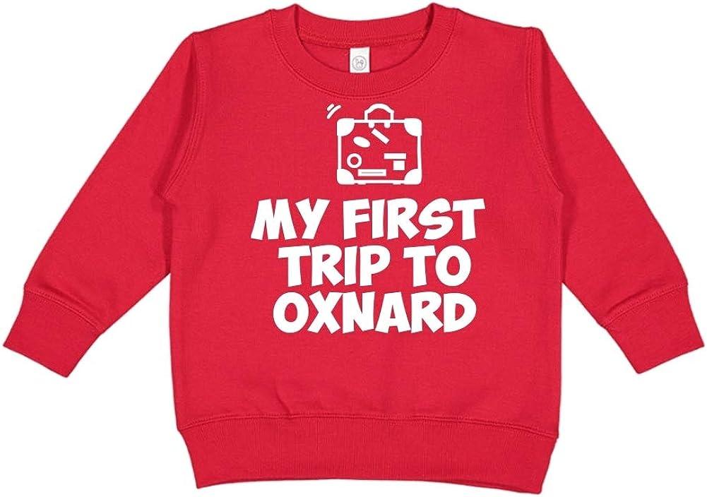 Mashed Clothing My First Trip to Oxnard Toddler//Kids Sweatshirt