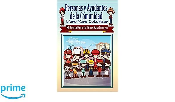 Personas y Ayudantes de la Comunidad Libro Para Colorear: Amazon.es ...