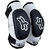 Fox Racing PeeWee Titan Adult Elbow Guard MotoX Motorcycle Body Armor - Black/Silver/PeeWee (ages 4-7)