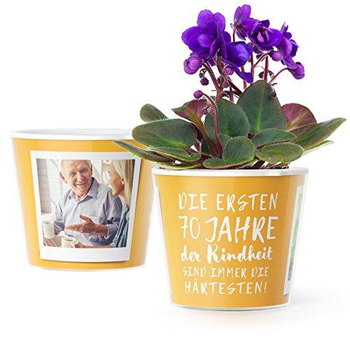 Facepot 70 Geburtstag Geschenk Blumentopf O16cm