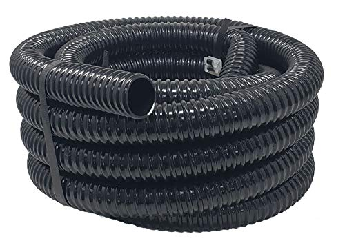 Sealproof Rollerflex Kinkproof 1-1/4 Dia Waterfall, Pond Tubing & Aquarium Hose, 1-1/4-Inch, 20 FT, Black, Corrugated ()