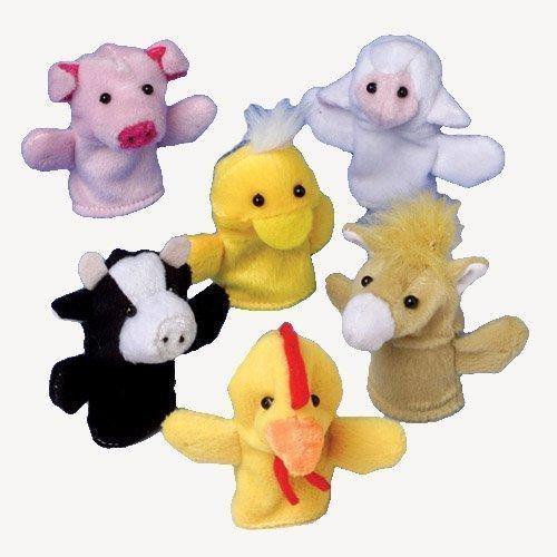 (Farm Animal Finger Puppets - (2-Pack of)