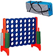ECR4Kids Jumbo 4-to-Score Giant Game Set, Backyard Games for Kids, Jumbo Connect-All-4 Game Set, Indoor or Out