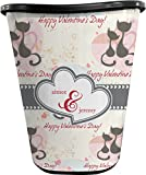 RNK Shops Cats in Love Waste Basket - Double Sided (Black) (Personalized)