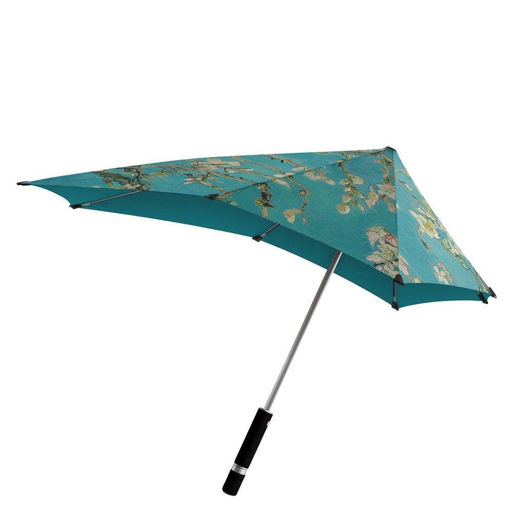 Le Monde du Parapluie senz Original Van Gogh Parapluie Canne, 79 cm, Vert/Fleurs d'amandier Vert/Fleurs d' amandier SENZORIGINALVANGOGH