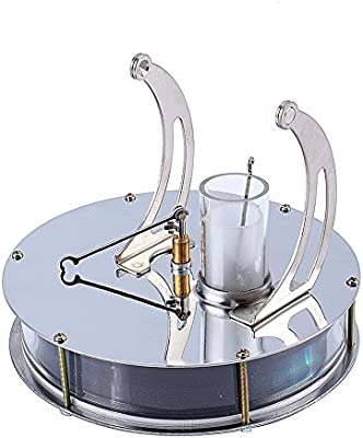 Steel/&Glass Low Temperature Stirling Engine Motor Steam Heat Education Model Toy