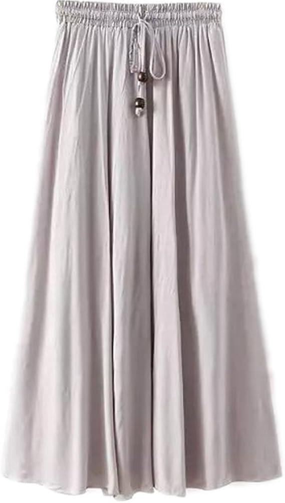 Kasen Falda Larga Mujer Cintura Larga Camiseta Maxi Faldas Gris One Size: Amazon.es: Ropa y accesorios