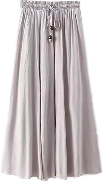 Kasen Falda Larga Mujer Cintura Larga Camiseta Maxi Faldas Gris ...