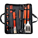 Prima 11 Piece BBQ Cooking Tool Set With Carry Bag Stainless Steel Utensils
