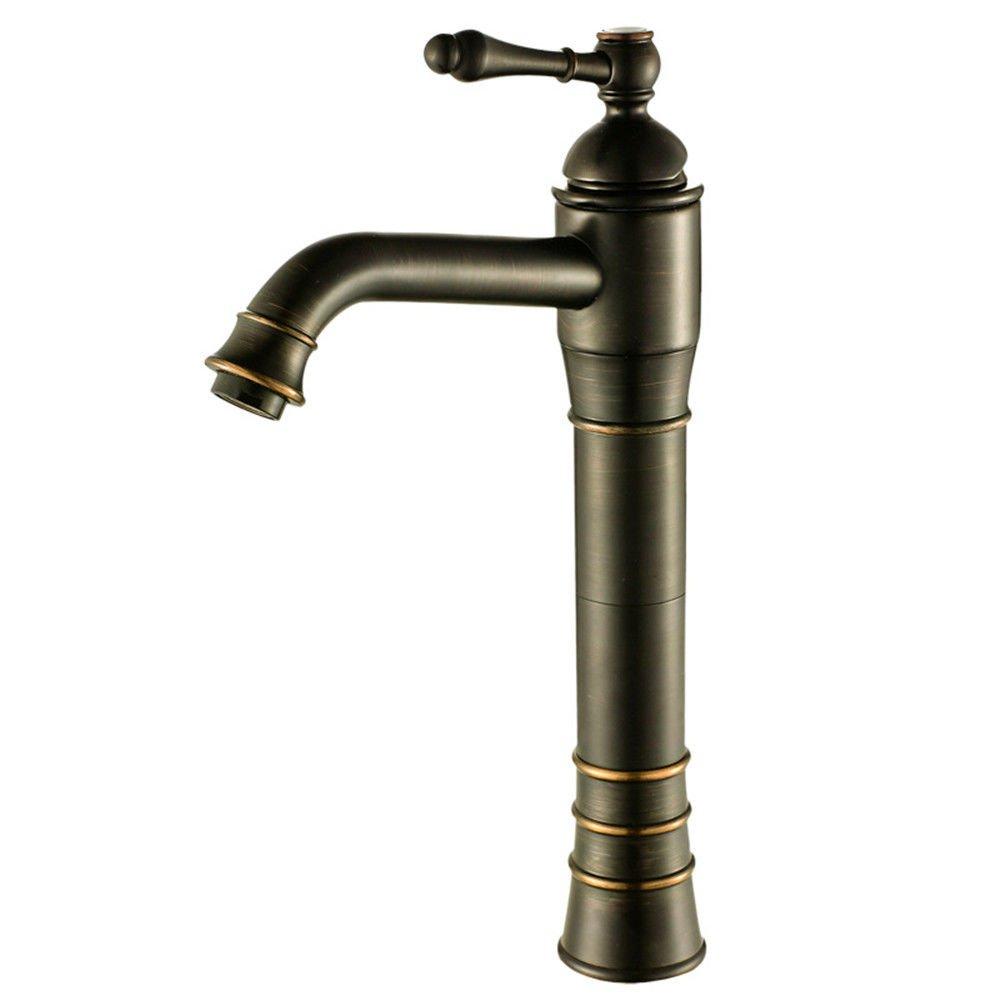 MEIBATH Waschtischarmatur Badezimmer Waschbecken Wasserhahn Küchenarmaturen Schwarz Antik Schwarz Öl eingerieben Messing Bronze Retro Küchen Wasserhahn Badarmatur