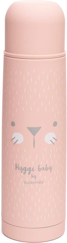Suavinex - Termo Líquidos Para Bebé. Acero Inoxidable. Cierre Hermético. Bebidas Calientes y Frías, 500ML Color Rosa