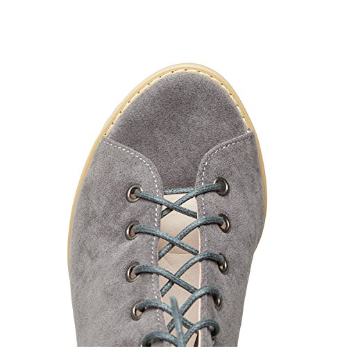 Up Faux Slingback Lace Sexy Stacked Pumps Suede Grey Heels Open Women's Toe Odetina g5q6fcOO
