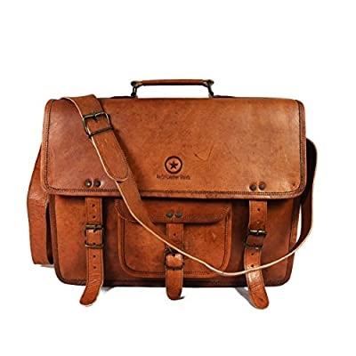 9fab662e4d0b 30%OFF 15 Inch Leather Vintage Crossbody Messenger Satchel Bag By Aaron  Leather