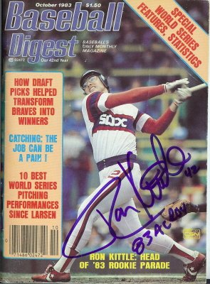(Autograph Warehouse 12378 Ron Kittle Chicago White Sox Autographed Baseball Digest Magazine)