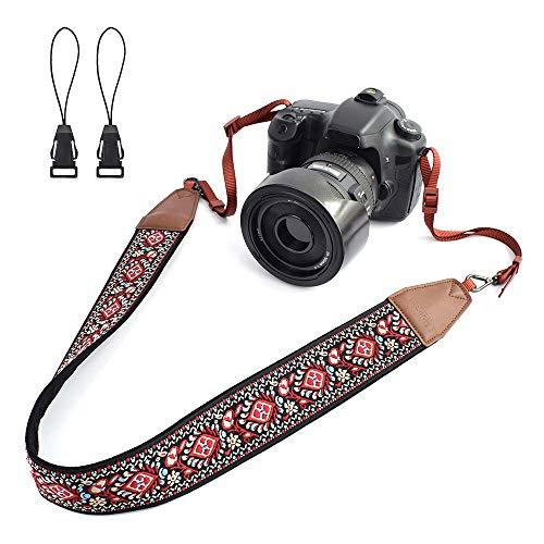 - LIFEMATE Camera Strap Shoulder Neck Belt for All SLR/DSLR (Red Vintage Patterns)