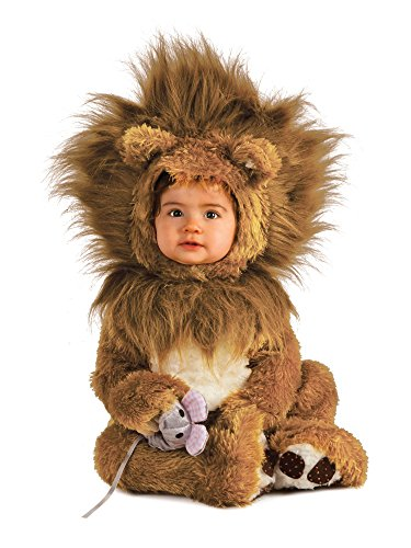Rubie's Unisex-Baby Infant Noah Ark Lion Cub Romper, Brown/Beige, 12-18 -