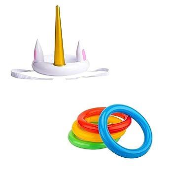 Party Spiel Aufblasbarer Hut Techrace Ring Werfen Spiel Einhorn