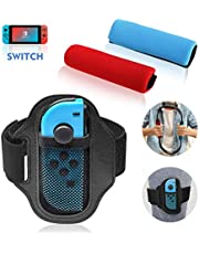 Ponwec Elastic Leg Fixing Strap and Ring-Con Non-Slip Grips Accessories Kits for Ring Fit Adventure ,1 Leg Strap and 2 Ring-Con Grips Ring-Con Nintendo Fit Adventure Game,Only Straps, No Ring Con