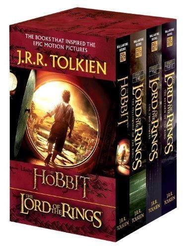 J.R.R. Tolkien 4-Book Boxed Set: The Hobbit and The Lord of the Rings (Movie Tie-in): The Hobbit, The Fellowship of the Ring, The Two Towers, The Return of the King Mti Edition by Tolkien, J.R.R. published by Del Rey (2012) Mass Market Paperback