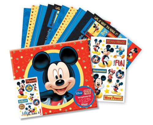 Embossed Mickey Postbound Album (Disney 8x8 Scrapbook Photo Album Kit MICKEY MOUSE)