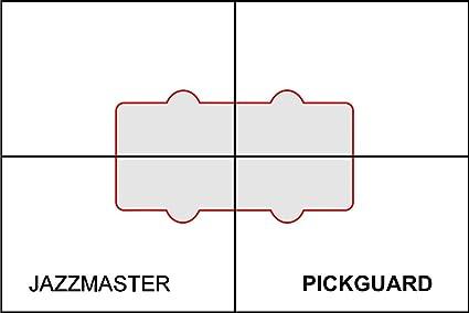 Amazon.com: Pickup Routing Template- Jazzmaster Pickguard: Musical ...