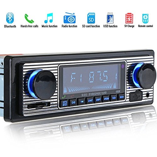 2e3329dc5c3 Image Unavailable. Image not available for. Color  TOOGOO Bluetooth Vintage Car  Radio MP3 Player Stereo USB AUX Classic Car Stereo Audio