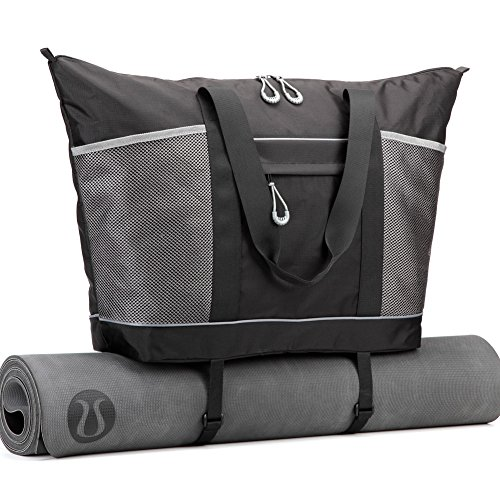 Gym Bag, Cossils Yoga Mat Bag with Roomy Pockets and Waterproof Sports Bag